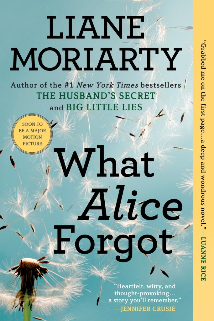 Book Talk: September 2015 - What Alice Forgot