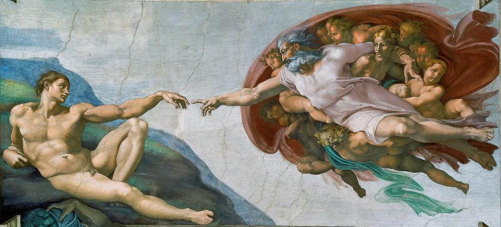 creation of adam in the vatican
